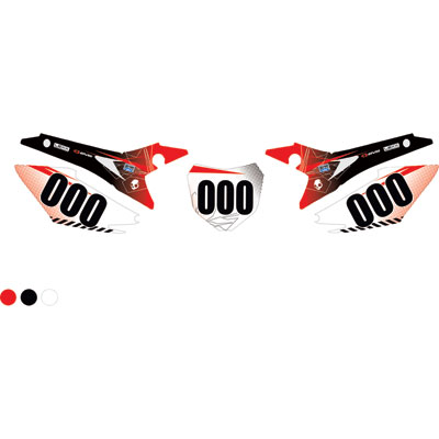 Attack Graphics Custom Havoc Full Coverage Number Plate Backgrounds Red/Black