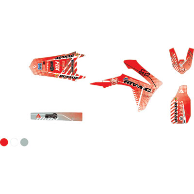 Attack Graphics Custom Havoc Full Trim Kit  Red/White