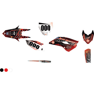 Attack Graphics Custom Havoc Complete Bike Graphics Kit Black/Red
