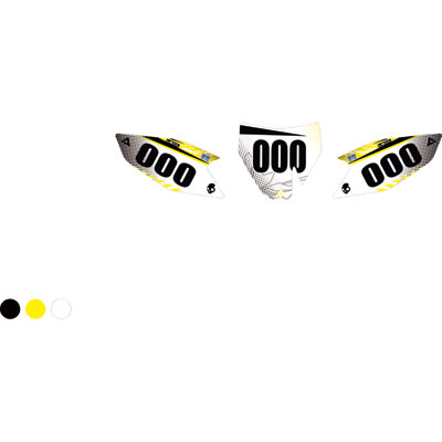 Attack Graphics Custom Havoc Full Coverage Number Plate Backgrounds Black/RM Yellow