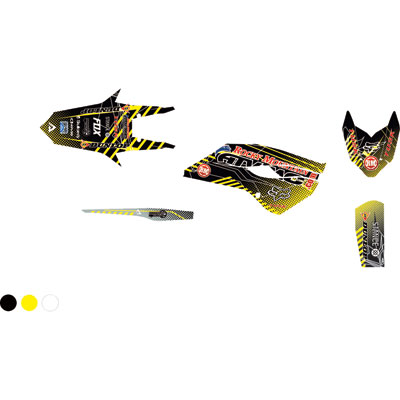 Attack Graphics Custom Havoc Full Trim Kit  Black/RM Yellow