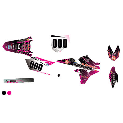 Attack Graphics Custom Havoc Complete Bike Graphics Kit Black/Pink