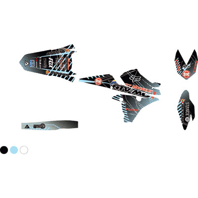 Attack Graphics Custom Havoc Full Trim Kit  Black/Baby Blue