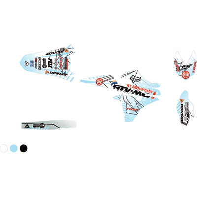 Attack Graphics Custom Havoc Full Trim Kit  White/Baby Blue