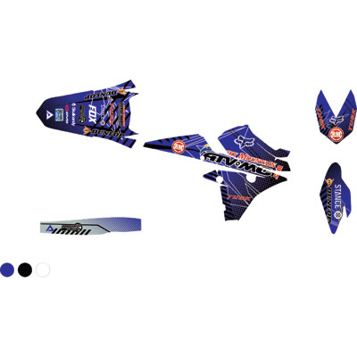 Attack Graphics Custom Havoc Full Trim Kit  YZ Blue/White