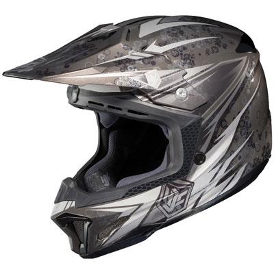 HJC CL-X7 Pop 'N Lock Helmet Small Silver/Black