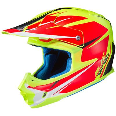HJC FG-MX Axis Helmet Large Semi-Flat Hi-Vis Yellow