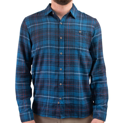 Hurley Kurt Long Sleeve Button Up Shirt Medium Blue Force