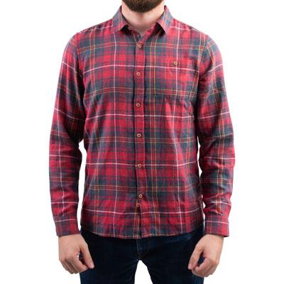 Hurley Kurt Long Sleeve Button Up Shirt Medium Gym Red