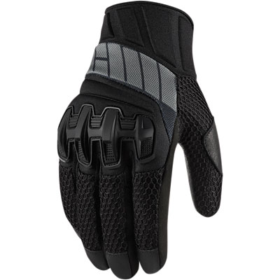 Icon Overlord Mesh Motorcycle Gloves XXX-Large Stealth