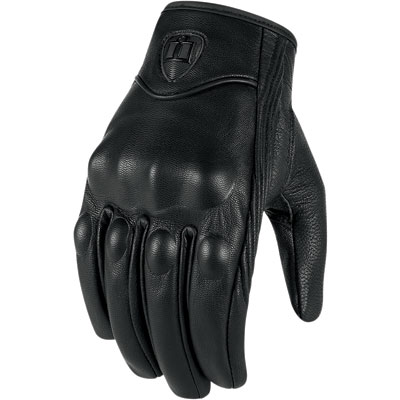 Icon Pursuit Touchscreen Motorcycle Gloves X-Large Stealth