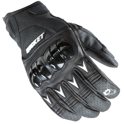 Joe Rocket Superstock Motorcycle Gloves Small Black/White