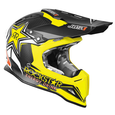 Just 1 J12 Rockstar Helmet Large Black/Yellow