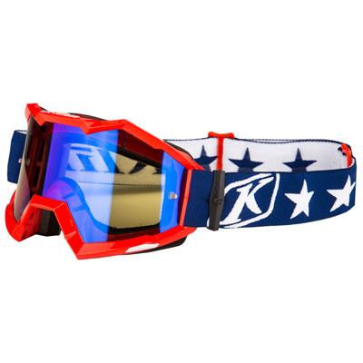 Klim Viper Off-Road Goggle  Patriot Frame/Smoke Blue Mirror Lens
