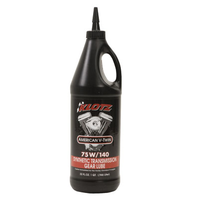 Klotz American V-Twin Synthetic Transmission Gear Lube 75W-140 32 oz.