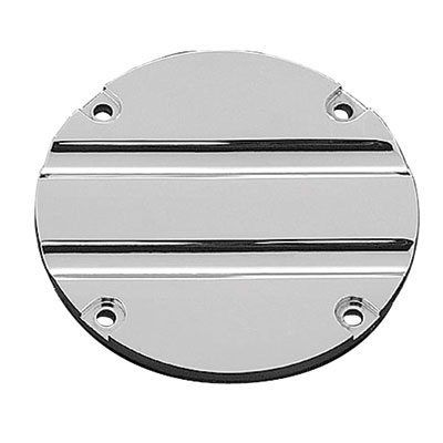 Kuryakyn Hypercharger Air Cleaner Replacement Trap Door  Chrome - Blood Groove