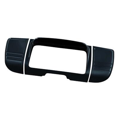 Kuryakyn Tri-Line Deluxe Stereo Trim  Gloss Black