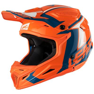 Leatt GPX 4.5 V20 Helmet Small Orange/Denim