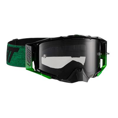 Leatt Velocity 6.5 Goggle  Black Green Frame/Smoke Lens