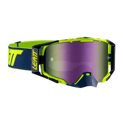 Leatt Velocity 6.5 Goggle  Ink Lime Frame/Purple Iriz Lens