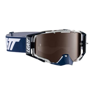 Leatt Velocity 6.5 Goggle  Ink White Frame/Platinum UC Iriz Lens