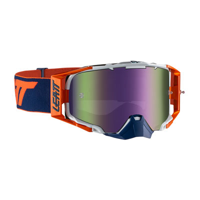 Leatt Velocity 6.5 Goggle  Orange Ink Frame/Purple Iriz Lens