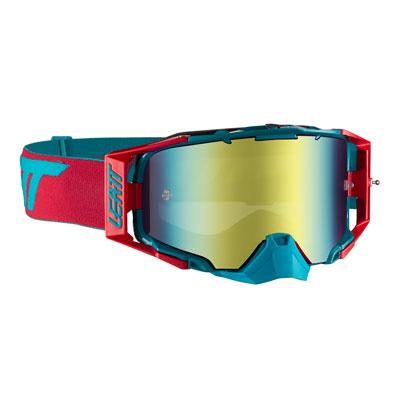 Leatt Velocity 6.5 Goggle  Red Teal Frame/Bronze Iriz Lens
