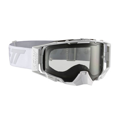 Leatt Velocity 6.5 Goggle  White Grey Frame/Light Grey Lens