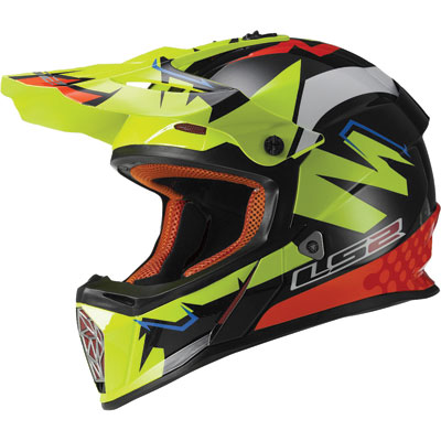 LS2 Fast MX437 Helmet 2017 XX-Large Explosive Yellow