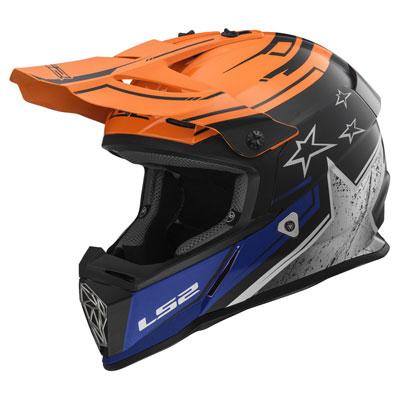 LS2 Fast V2 MX437 Helmet X-Small Core Orange/Chrome