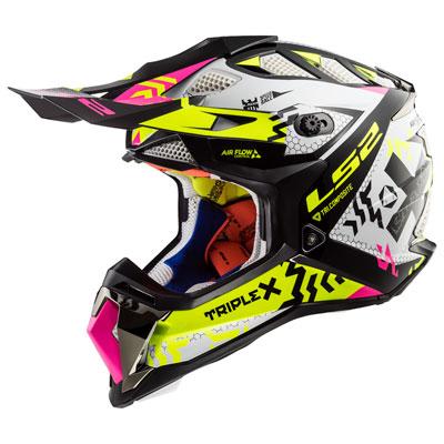 LS2 Subverter MX470 Helmet Medium TripleX Black/Pink/Hi-Vis