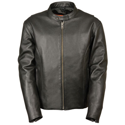 Milwaukee Leather Classic Scooter Leather Motorcycle Jacket Medium Black