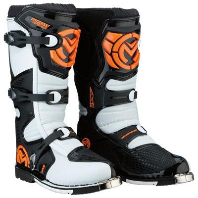 Moose Racing M1.3 Boots Size 9 Orange/White