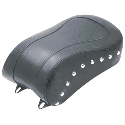 Mustang Solo Seat Studded, Standard Rear Motorcycle Seat  Chrome Studs