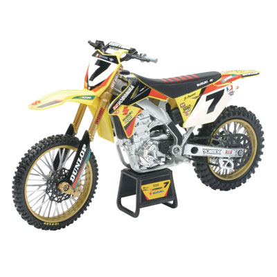 New Ray Die-Cast Suzuki RM-Z450 James Stewart Yoshimura Motorcycle Replica 1:6 Scale