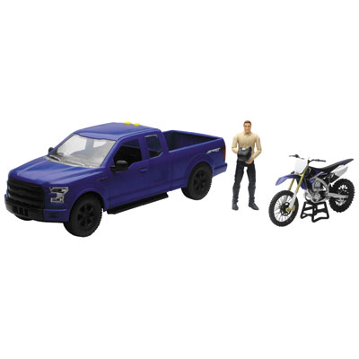 New Ray Die-Cast Ford F-150 with Yamaha YZ450F 1:14 Scale