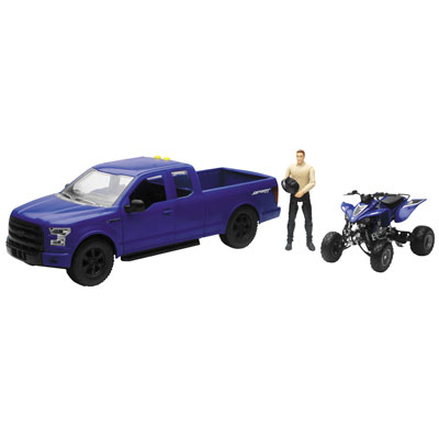 New Ray Die-Cast Ford F-150 with Yamaha YFZ 450R 1:14 Scale