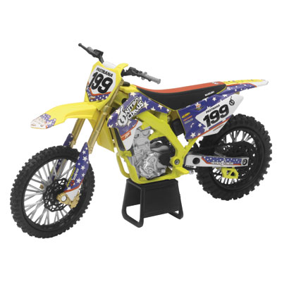 New Ray Die-Cast Suzuki RM-Z450 Travis Pastrana Nitro Circus Motorcycle Replica 1:12 Scale