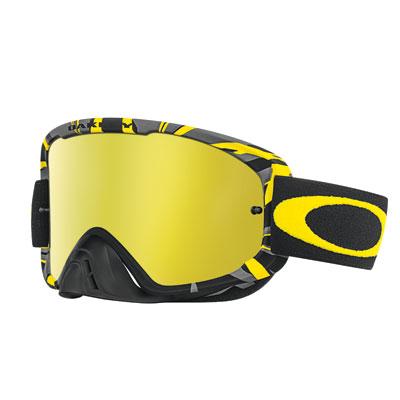 Oakley O2 MX Goggle  Intimidator Gunmetal Yellow/24k Iridium Lens