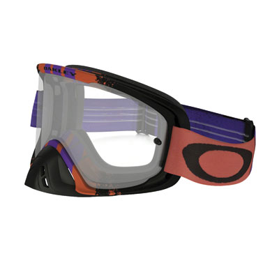 Oakley O2 MX Goggle  Pinned Race Warm Red Purple Frame/Clear Lens