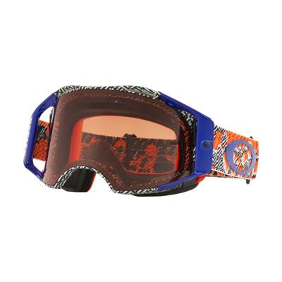 Oakley Airbrake Goggle  Dazzle Dyno Org Blue Frame/Prizm MX Bronze Lens