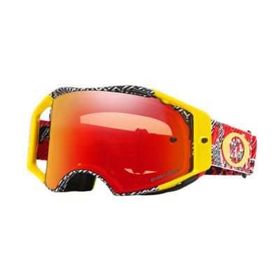 Oakley Airbrake Goggle  Dazzle Dyno Red Yellow Frame/Prizm MX Torch Iridium Lens