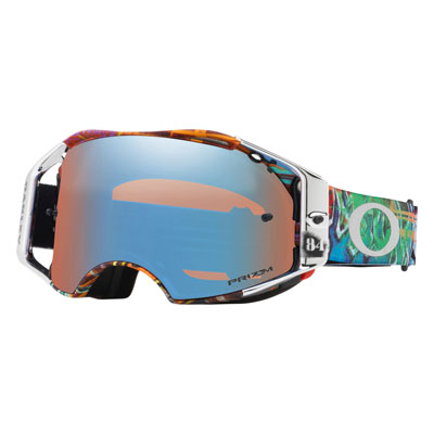 Oakley Airbrake Goggle  Jeffrey Herlings Graffito RWB Frame/Prizm Sapphire Ird Lens