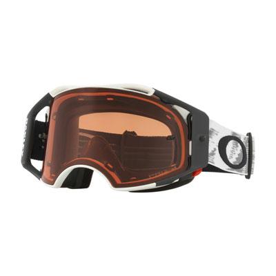 Oakley Airbrake Goggle  Matte White Speed Frame/Prizm MX Bronze Lens