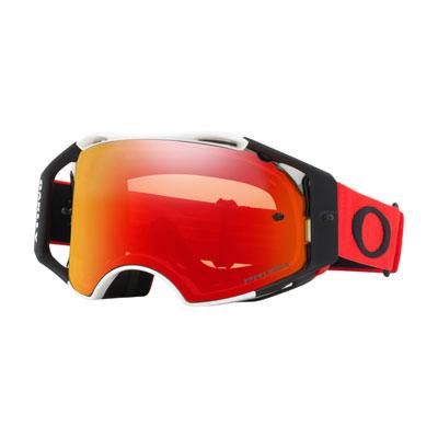 Oakley Airbrake Goggle  Red White Frame/Prizm MX Torch Iridium Lens