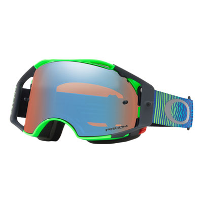 Oakley Airbrake Goggle  Shockwave Blue Green Frame/Prizm MX Sapphire Iridium Lens