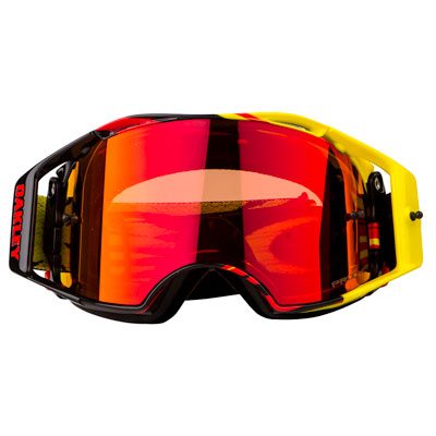 Oakley Airbrake Goggle  High Voltage Yellow Red Frame/Prizm MX Torch Iridium Lens