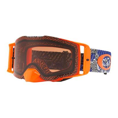 Oakley Front Line Goggle  Dazzle Dyno Blue Orange Frame/Prizm Bronze Lens