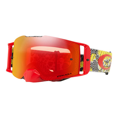 Oakley Front Line Goggle  Dazzle Dyno Red Yellow Frame/Prizm Torch Iridium Lens