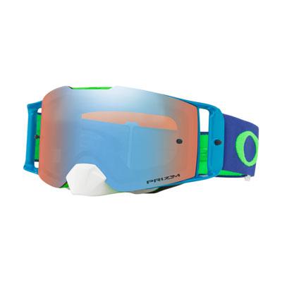 Oakley Front Line Goggle  Flo Green Blue Frame/Prizm Sapphire Iridium Lens